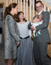 Kate Middleton incinta, look con stampe