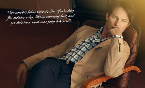 L'attore Stephen Moyer per Mr Porter