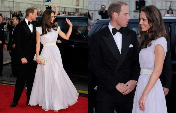 Look delle celebrità - BAFTA Brits to Watch Kate Middleton red carpet e trionfo del monospalla