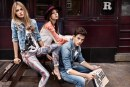Scatti back in the years delle campagne pubblicitarie Pepe Jeans London