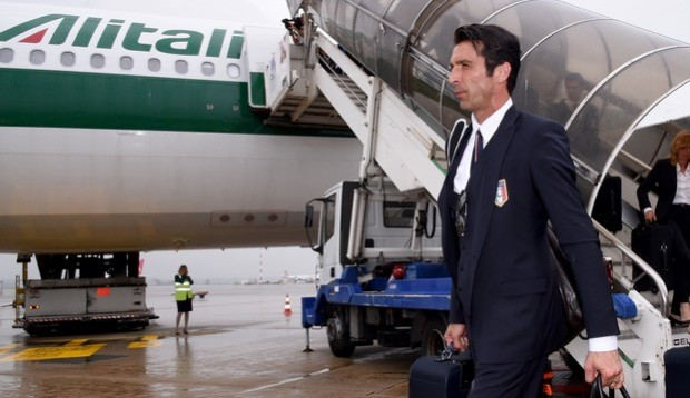 The Italy Football Team Leaves Brazil