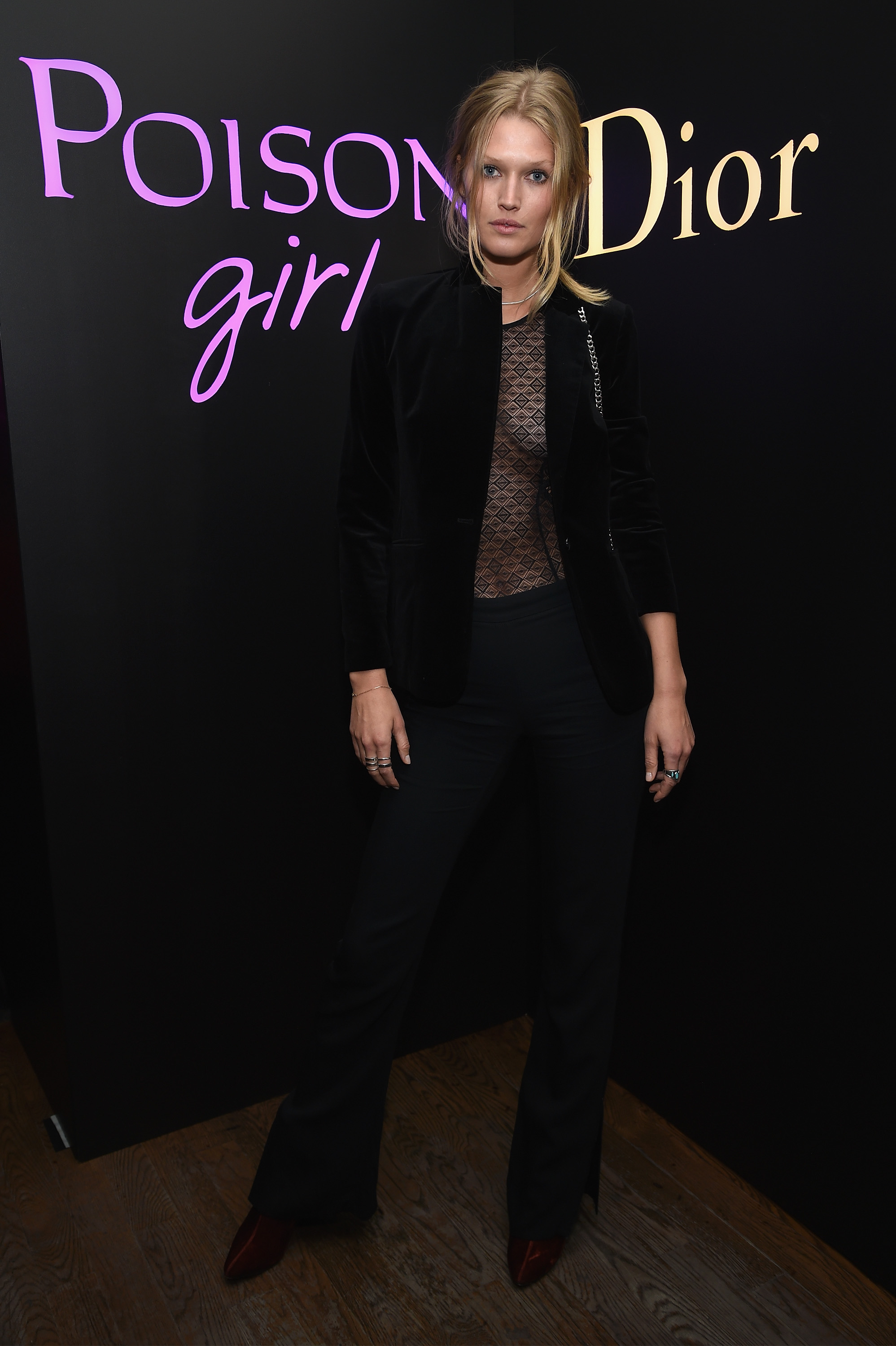 NEW YORK, NY - JANUARY 31:  Model Toni Garrn attends NY Poison Club hosted by Dior with Camille Rowe on January 31, 2017 in New York City.  (Photo by Dimitrios Kambouris/Getty Images for Dior Beauty)
