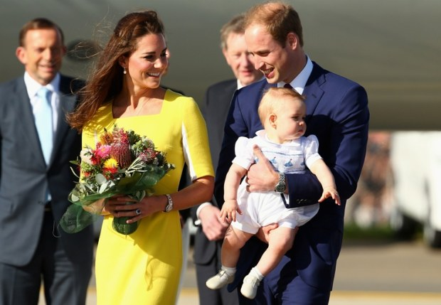 Kate, William e George: l'arrivo in Australia – foto