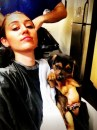 Miley Cyrus e il suo cane Happy
