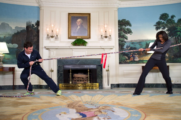 """Michelle Obama Marks Second Anniversary Of """"Let's Move!"""" Initiative With Jimmy Fallon"""