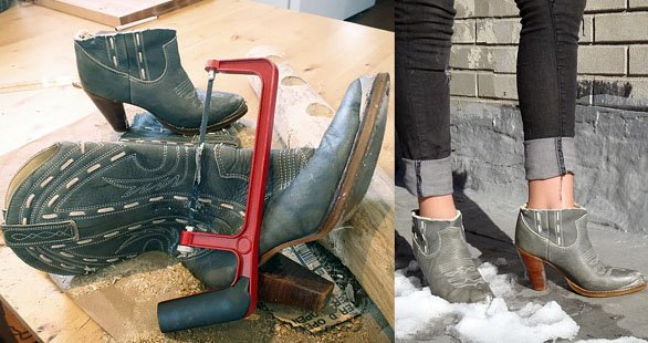 ankle boot diy