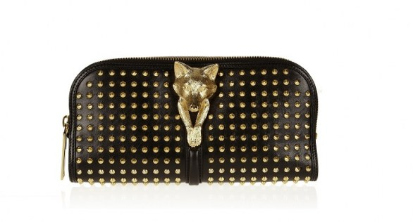 Burberry Studded leather clutch