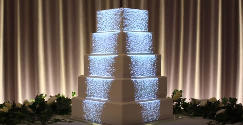 Wedding cake tendenze projection mapping for Piani domestici a forma di t