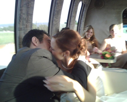 kissing on the bus