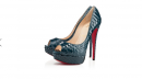 Louboutin collezione autunno inverno 2013-2014 LADY PEEP PYTHON 150 mm