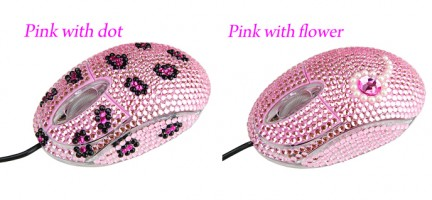 mouse strass rosa