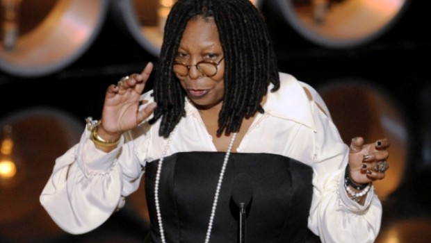 HOLLYWOOD, CA - MARCH 02:  TV personality/actress Whoopi Goldberg speaks onstage during the Oscars at the Dolby Theatre on March 2, 2014 in Hollywood, California.  (Photo by Kevin Winter/Getty Images)