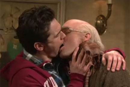 Il bacio gay di James Franco
