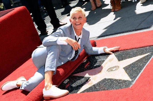 Ellen DeGeneres sulla Walk of Fame di Hollywood