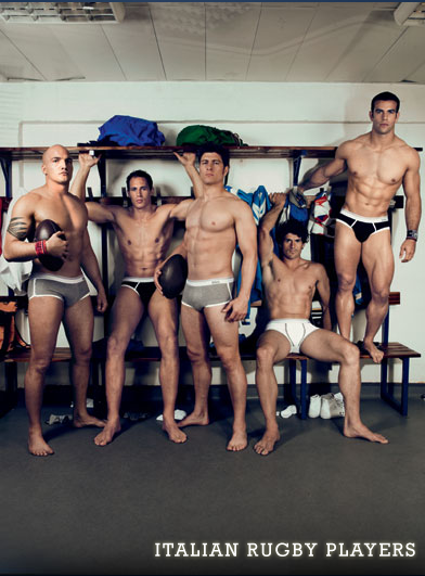 Italian rugby players naked