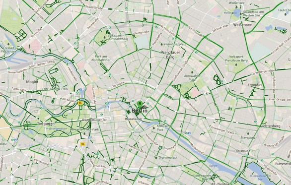 Google map per ciclisti a Berlino
