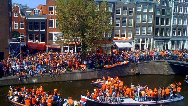 Kings Day ad Amsterdam
