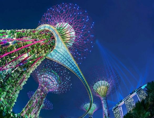 Gardens by the bay a Singapore
