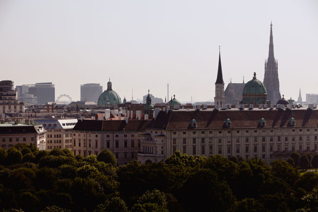 ©WienTourismus / Peter Rigaud   Legend:  Vienna from Above: View to St. Stephans Cathedrale