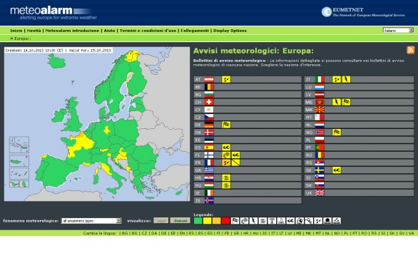Home Page  -  Meteo Allarm