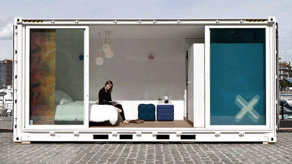 Sleeping around dormire in un container ad anversa for Hotel ad anversa