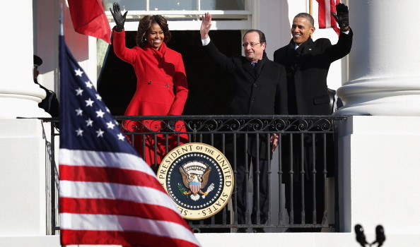 President Obama And First Lady Welcome French President  Hollande To The White House