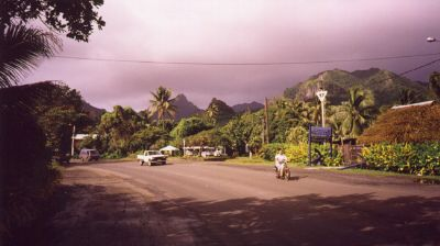 An Avarua Street prior to a tropical rain, Rarotonga, Cook Islands