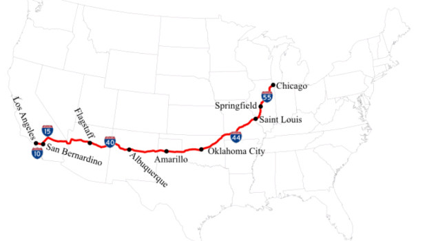 mappa route us66