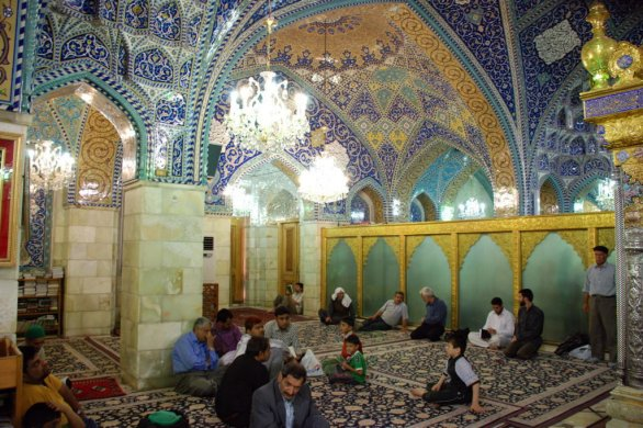 L'interno di una moschea a Damasco