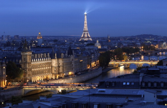 A picture taken from the roof of Paris'
