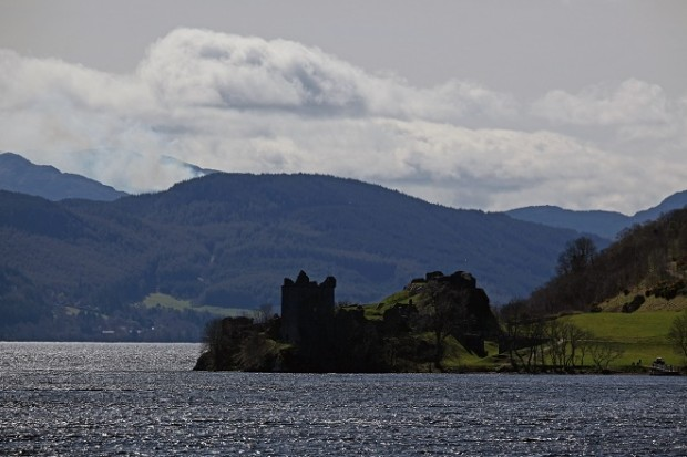 Visitors Take In The Ruins Surrounding Loch Ness