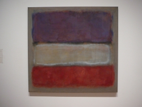 Purple, red and white by Rothko