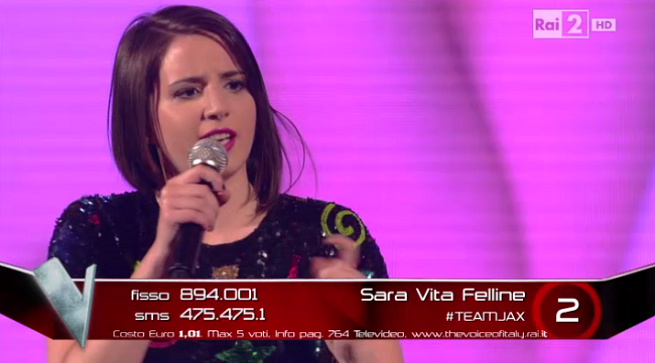 The Voice inedito Sara Vita Felline