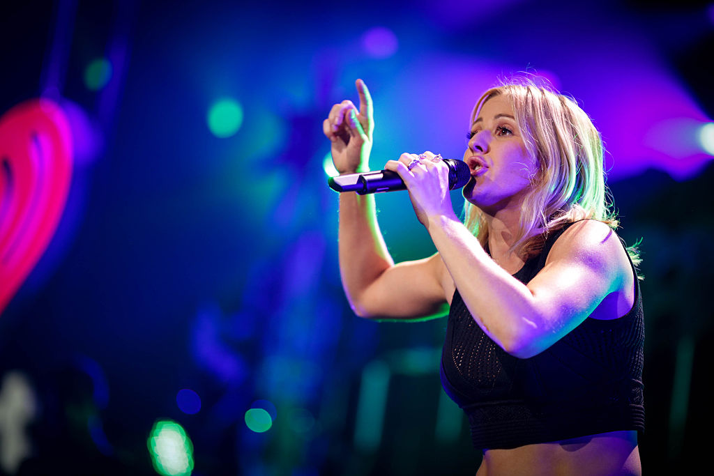 LOS ANGELES, CA - DECEMBER 04:  Singer Ellie Goulding performs onstage during 102.7 KIIS FM's Jingle Ball 2015 Presented by Capital One at STAPLES CENTER on December 4, 2015 in Los Angeles, California.  (Photo by Christopher Polk/Getty Images for iHeartMedia)