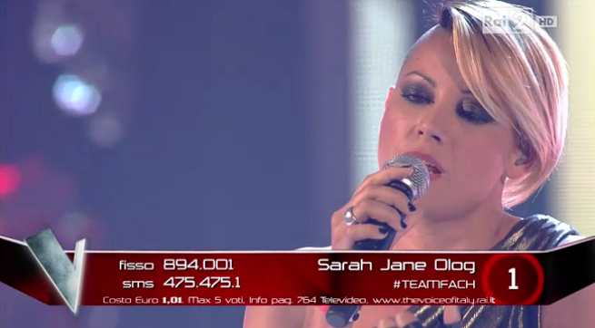 The Voice inedito Sarah Jane