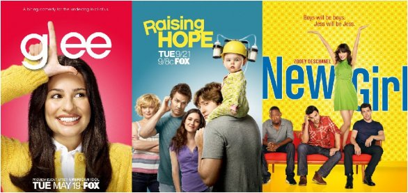 Glee Raising Hope New Girl