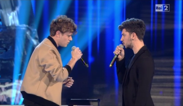 the voice 1 aprile 2015 battle steal denny roberto
