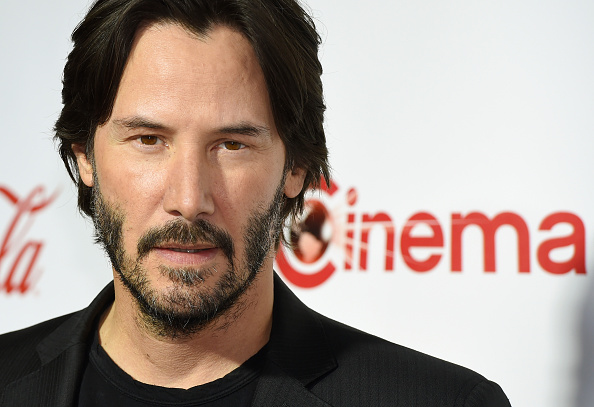 LAS VEGAS, NV - APRIL 14: Actor Keanu Reeves, recipient of the Vanguard Award, attends the CinemaCon Big Screen Achievement Awards brought to you by the Coca-Cola Company at Omnia Nightclub at Caesars Palace during CinemaCon, the official convention of the National Association of Theatre Owners, on April 14, 2016 in Las Vegas, Nevada. (Photo by Ethan Miller/Getty Images)